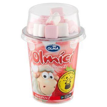 Olma Olmici Jogurt truskawkowy z piankami w kształcie serduszek 111 g