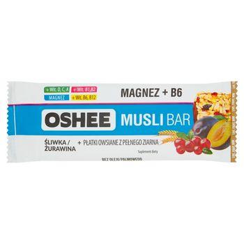 Oshee Musli Bar Suplement diety Baton zbożowy śliwka żurawina 40 g