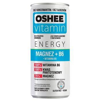 Oshee Vitamin Energy Napój gazowany o smaku owoców tropikalnych 250 ml