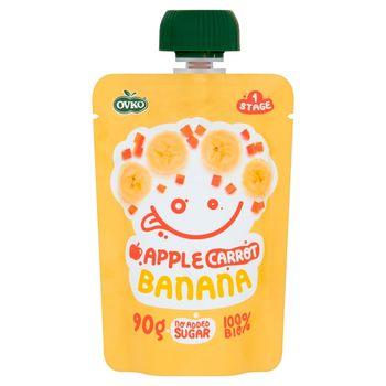 Ovko BIO Mus owocowo-warzywny jabłko-marchewka-banan 90 g