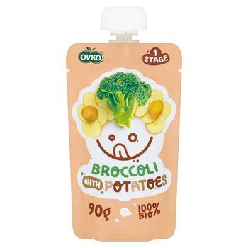 Ovko Ekologiczny przecier brokuł ziemniak powyżej 6 miesiąca 90 g