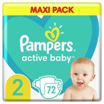 Pampers Active Baby, rozmiar2, 72pieluszek, 4kg-8kg