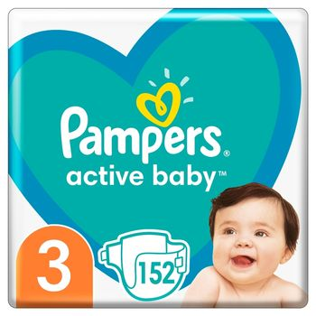 Pampers Active Baby, rozmiar3, 152pieluszek, 6kg-10kg