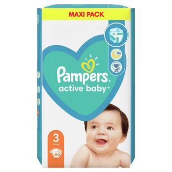 Pampers Active Baby, rozmiar3, 66pieluszek, 6kg-10kg