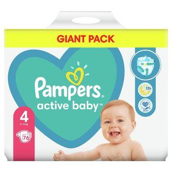 Pampers Active Baby, rozmiar4, 76pieluszek, 9kg-14kg