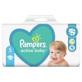 Pampers Active Baby, rozmiar5, 110pieluszek, 11kg-16kg
