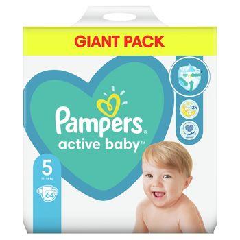 Pampers Active Baby, rozmiar5, 64pieluszek, 11kg-16kg