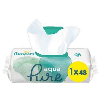 Pampers Aqua Pure Chusteczki nawilżane dla niemowląt 1 opakowania = 48 chusteczek nawilżanych