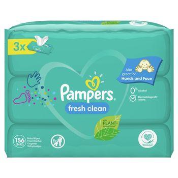 Pampers Fresh Clean Chusteczki 3 opakowania = 156 chusteczek