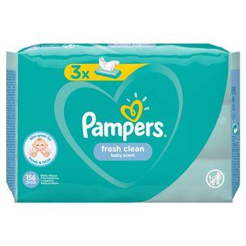 Pampers Fresh Clean Chusteczki nawilżane dla niemowląt 3 opakowania = 156 chusteczek nawilżanych