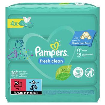 Pampers Fresh Clean Chusteczki 4 opakowania = 208 chusteczek