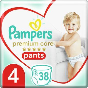 Pampers Premium Care Pieluchomajtki, Rozmiar4, 38Sztuk, 9kg-15kg