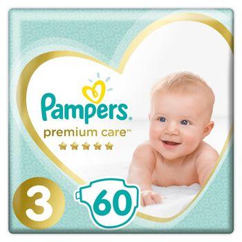Pampers Premium Care, Rozmiar 3, 60 pieluszki, 6kg-10kg