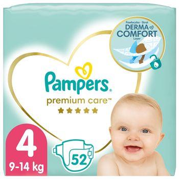 Pampers Premium Care, Rozmiar 4, 52 pieluszki, 9kg-14kg