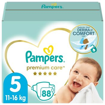 Pampers Premium Care, Rozmiar 5, 88 pieluszki, 11kg-16kg