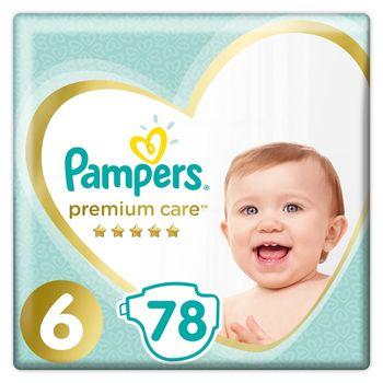 Pampers Premium Care, Rozmiar 6, 78 pieluszki, 13kg+