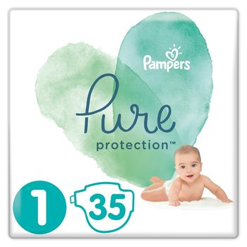 Pampers Pure Protection Rozmiar 1, 35 pieluch, 2-5 kg