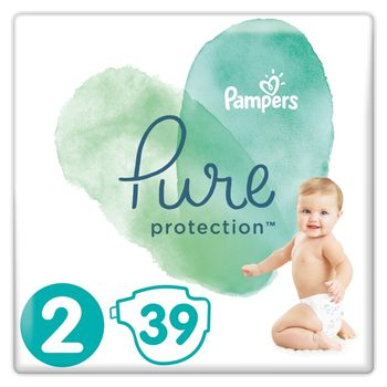 Pampers Pure Protection Rozmiar 2, 39 pieluch, 4-8 kg