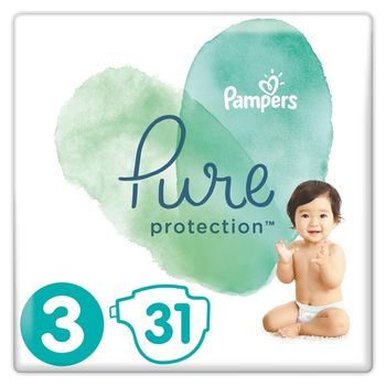 Pampers Pure Protection Rozmiar 3, 31 pieluch, 6-10 kg