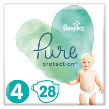 Pampers Pure Protection Rozmiar 4, 28 pieluch, 9–14 kg