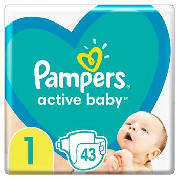 Pampers Active Baby, rozmiar1, 43pieluszek, 2kg-5kg