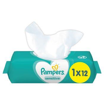 Pampers Sensitive Chusteczki nawilżane dla niemowląt 1 opakowanie = 12 chusteczek nawilżanych
