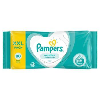 Pampers Sensitive Chusteczki nawilżane dla niemowląt 1 opakowanie zawiera 80 chusteczek