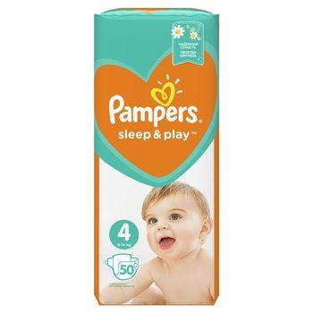 Pampers Sleep&Play, Rozmiar 4, 50 Pieluszek, 9–14kg