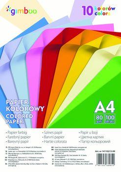 Papier Kolorowy 100 Kartek A4 10 KOLORÓW Neonowych
