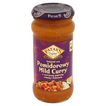 Patak's Indyjski sos pomidorowy Mild Curry z czerwoną papryką cebulą i kokosem 350 g