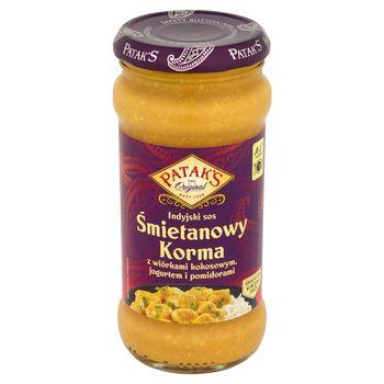 Patak's Indyjski sos śmietanowy Korma z wiórkami kokosowymi jogurtem i pomidorami 350 g