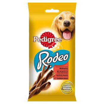 Pedigree Rodeo Karma uzupełniająca smakowite sprężynki do żucia z wołowiną 122 g (7 sztuk)