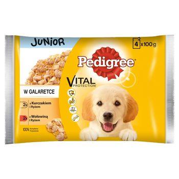 Pedigree Vital Protection Junior Karma pełnoporcjowa w galaretce 400 g (4 x 100 g)