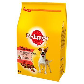 Pedigree Vital Protection Mini <10 kg Psy dorosłe Karma pełnoporcjowa z wołowiną i warzywami 2 kg
