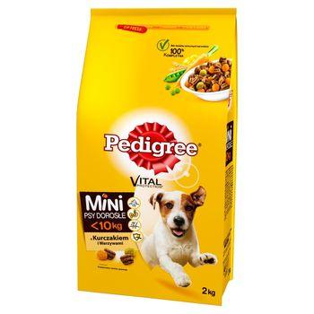 Pedigree Vital Protection Mini Psy dorosłe <10 kg Karma z kurczakiem i warzywami 2 kg