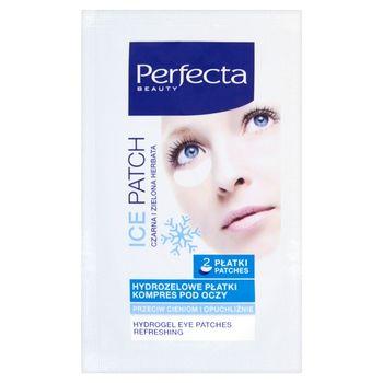 Perfecta Beauty Ice Patch Hydrożelowe płatki Kompres pod oczy 2 sztuki