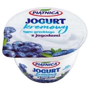 Piątnica Jogurt kremowy typu greckiego z jagodami 150 g