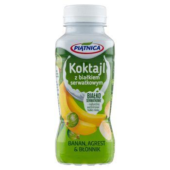 Piątnica Koktajl z białkiem serwatkowym banan agrest & błonnik 250 ml