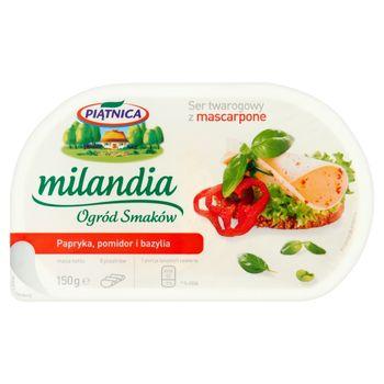 Piątnica Milandia Ogród Smaków Ser twarogowy z mascarpone papryka pomidor i bazylia 150 g