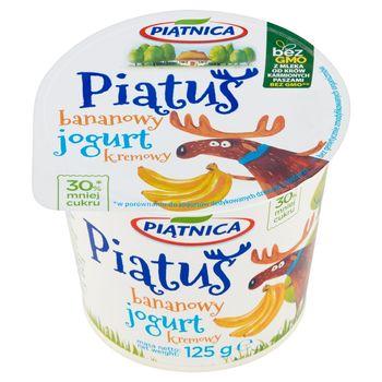 Piątnica Piątuś Jogurt kremowy bananowy 125 g