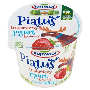 Piątnica Piątuś Jogurt kremowy truskawkowy 125 g