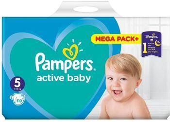 Pieluchy PAMPERS Active Baby Rozmiar 5, 110 pieluszek, 11-16 kg