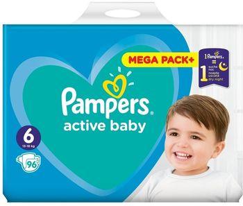 Pieluchy PAMPERS Active Baby Rozmiar 6, 96 pieluszek, 13-18 kg