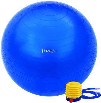 Piłka gimnastyczna z pompką 65cm YB01 HMS (niebieska)