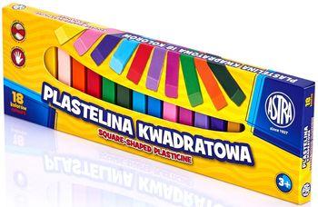 ASTRA Plastelina kwadratowa (18 kolorów)