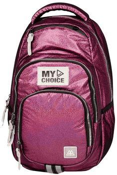 Plecak Mybaq Atik L Supershine różowy
