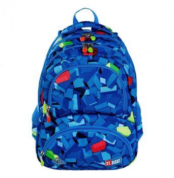 Plecak szkolny młodzieżowy ST.RIGHT klocki
