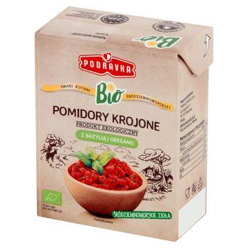 Podravka Bio Pomidory krojone z bazylią i oregano 390 g