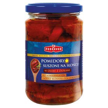 Podravka Pomidory suszone na słońcu w oleju z ziołami 270 g