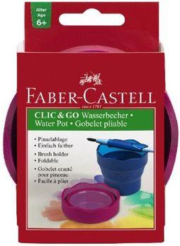 AMEX Pojemnik na wodę click and go faber castell fioletowy 181517 FC, 181510 FC